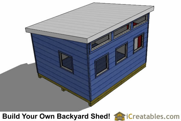 12x14 modern shed plans top