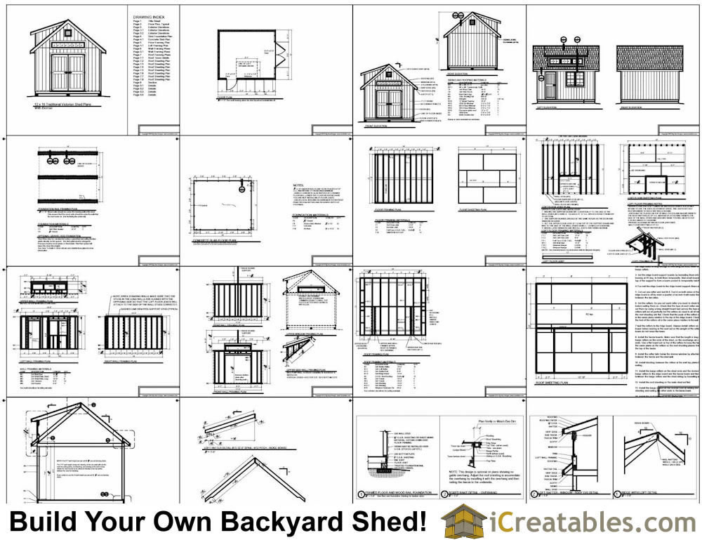 12x14 Shed With dormer Storage Shed Plans