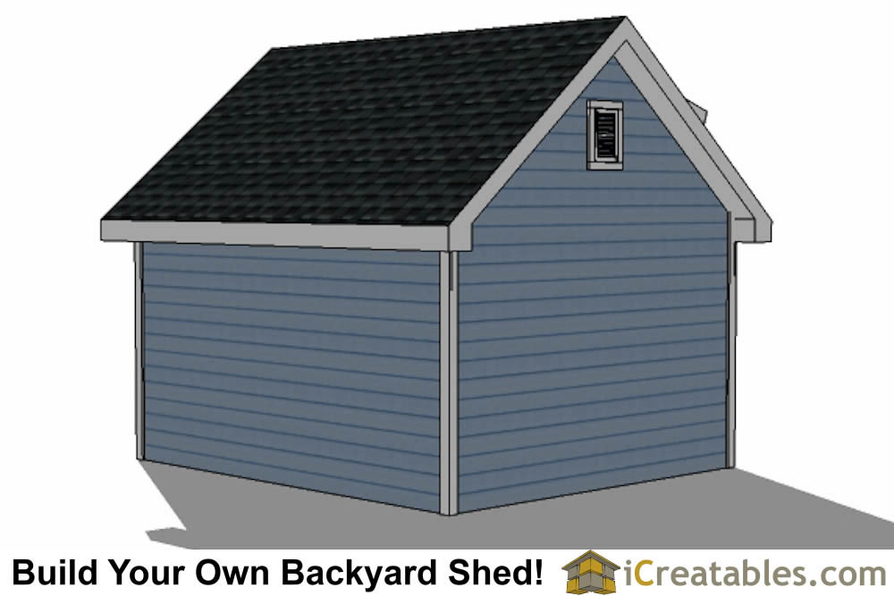 12x14 shed with dormer roof plans right rear