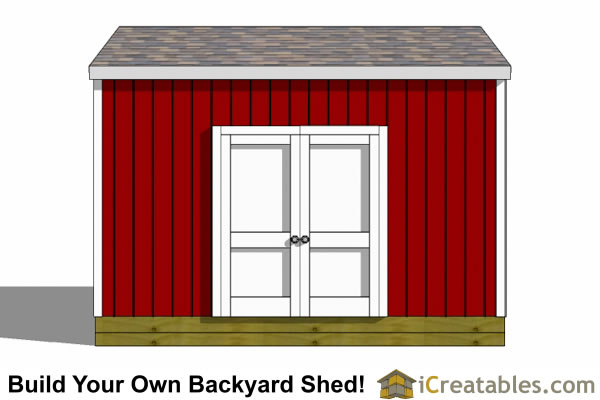 12x14 backyard shed plans doors on side