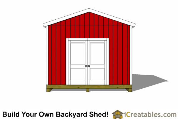 12x14 backyard shed plans doors