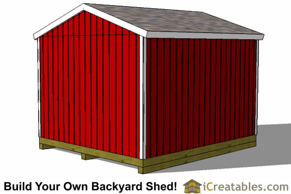 12x14 backyard shed plans rear