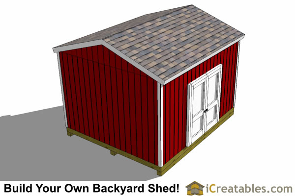 12x14 backyard shed plans front