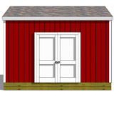 12x14 gable shed plans doors on side