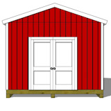 12x14 gable shed plans doors