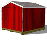 12x14 gable shed plans rear