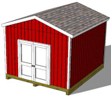 12x14 gable shed plans top