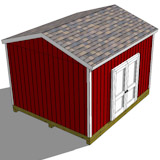 12x14 gable shed plans doors side top view
