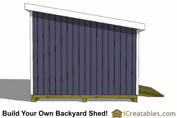 12x14 lean to shed left