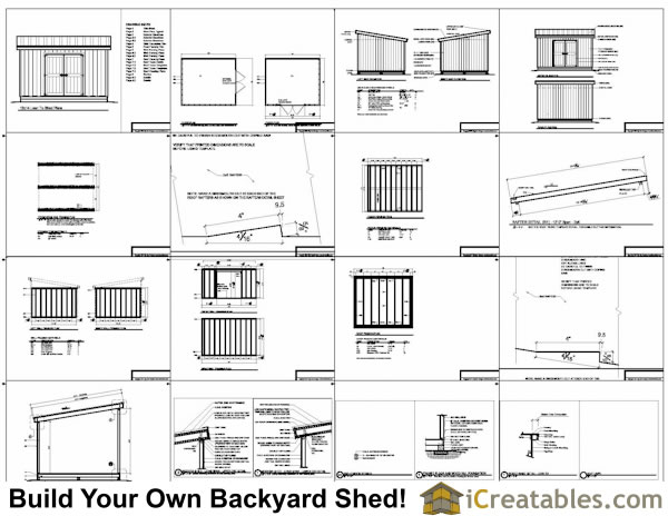 12x14 lean to shed plans example