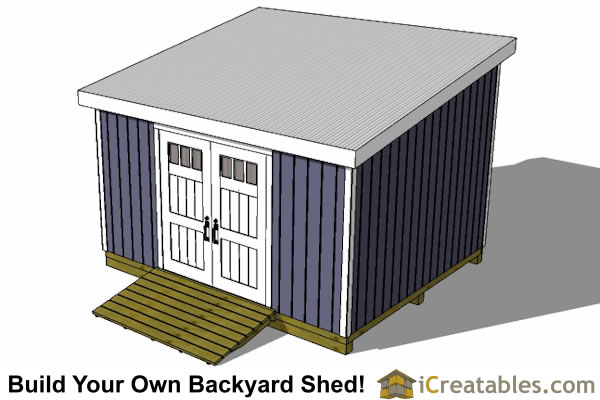 12x14 lean to shed front