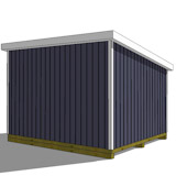 12x14 lean to shed rear