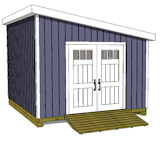 12x14 lean to shed plans door on angled