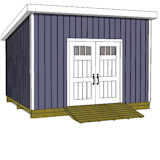 12x14 lean to shed plans door on high side