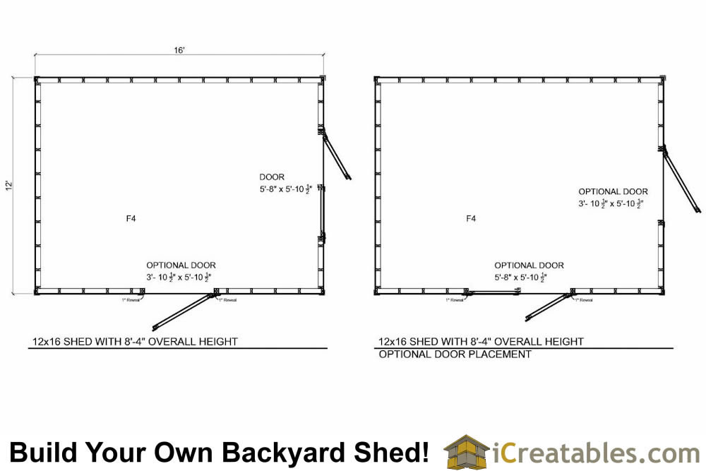 12x16 short shed plans 8 39 4 tall storage shed plans for 12x16 shed floor plans