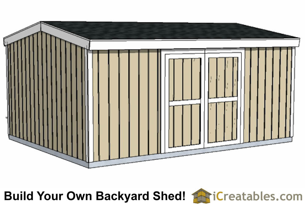 12x16 short shed plans double door large