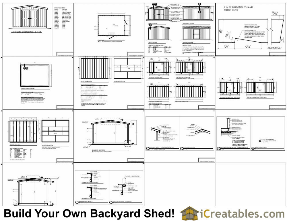 12x16 short shed plans example