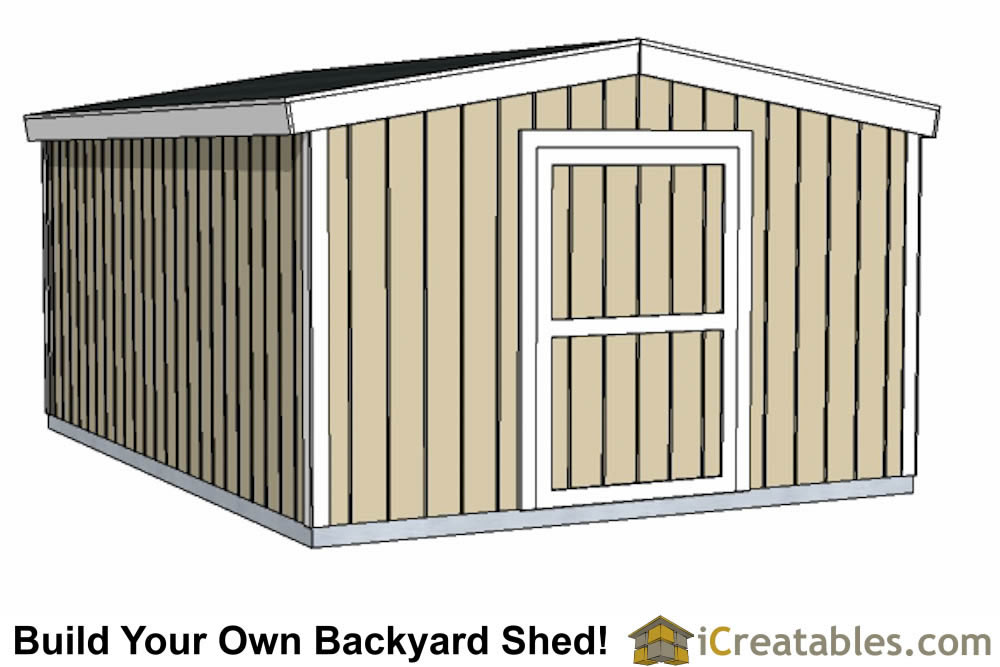 12x16 short shed plans small door