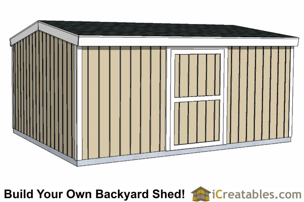 12x16 short shed plans small door side wall
