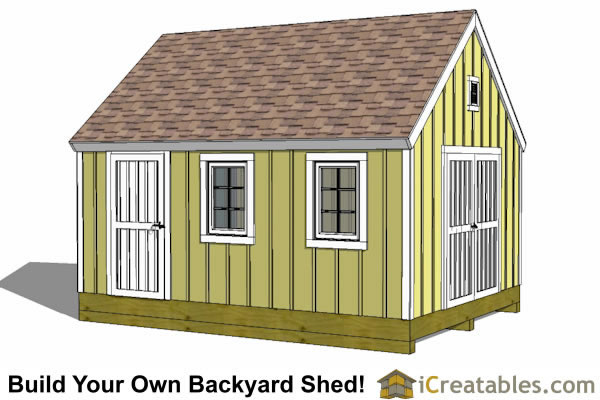 12x16 cape cod style shed plans icreatables for 12x18 garage plans