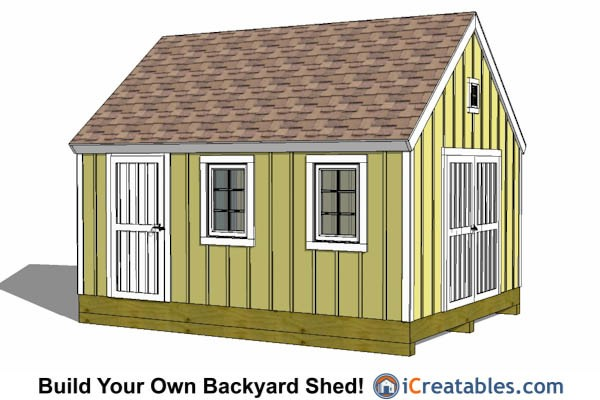 12x16' Shed Plans Free Online