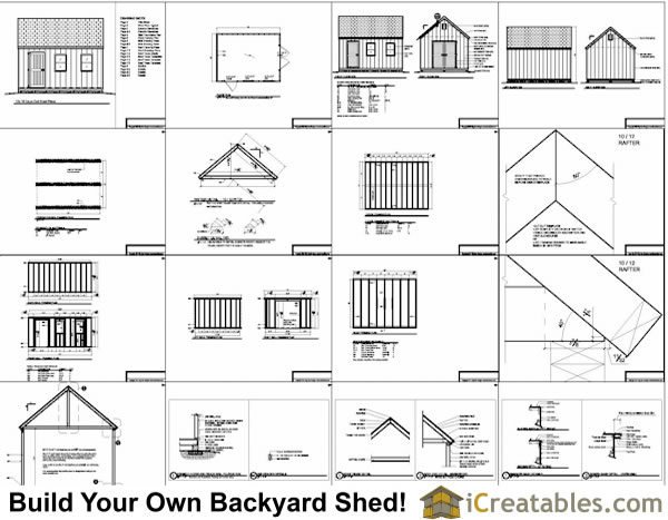 Shed Material List Plan Click For Details Blueprints 12x16
