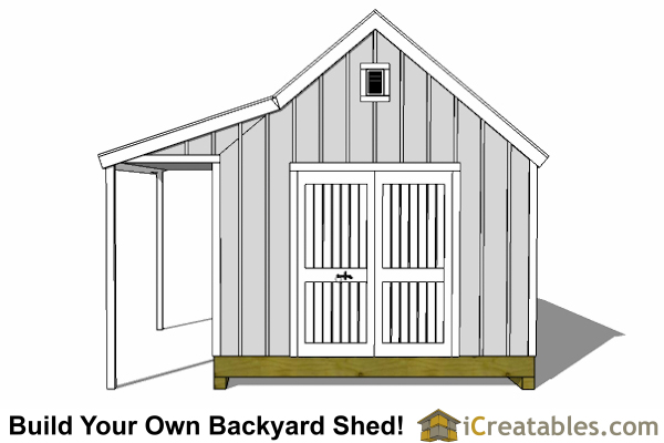 12x16 Cape Cod Shed With Porch Plans | icreatables