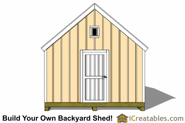 12x16 Cape Cod Shed Plans Large Door Right Elevation