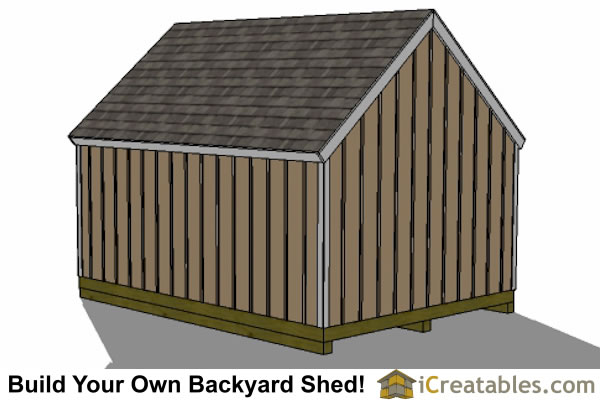 12x16 Cape Cod Shed Plans Large Door Right Side