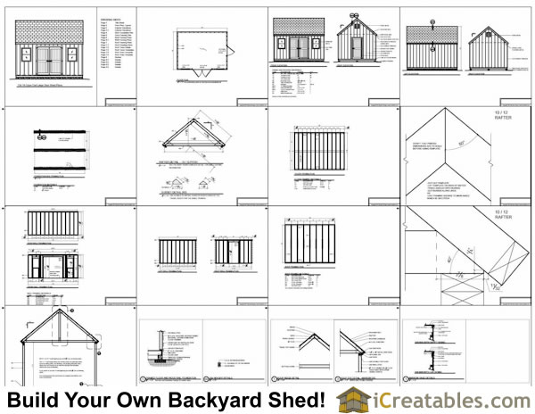 12x16 Cape Cod Shed Plans Large Door Plans Example