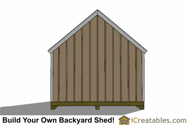 12x16 Cape Cod Shed Plans Large Door Right Rear