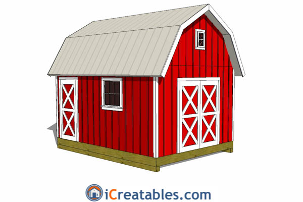 12x16 Gambrel Shed Plans | 12x16 barn shed plans