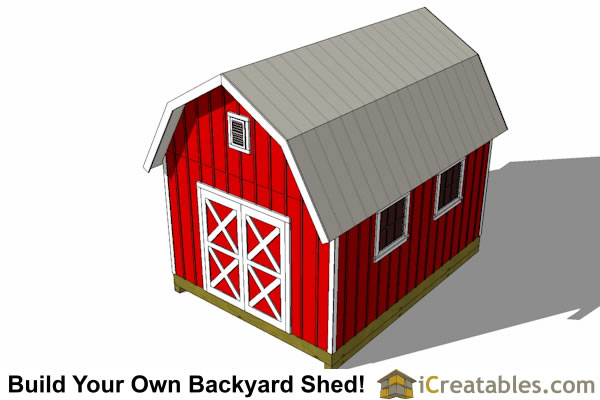 12x16 gambrel shed plans top