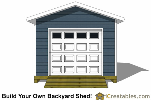 12x16 shed plans with garage door elevation