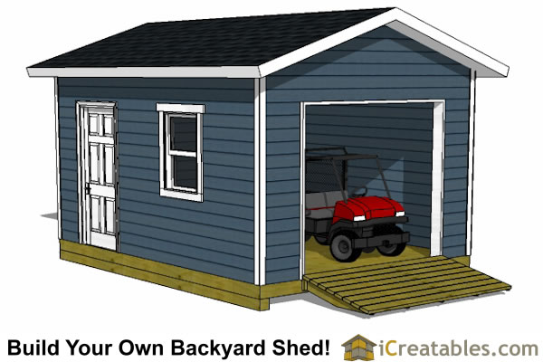 12x16 Shed Plans With Garage Door | icreatables