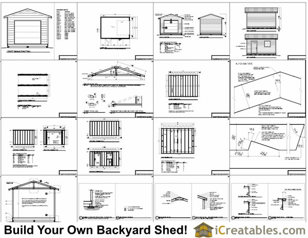 X Shed With Garage Door Plans Example