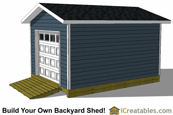 12x16 Shed Plans With Garage Door Icreatables