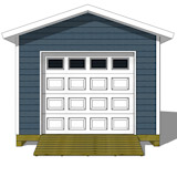 10x16 shed plan end