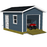 12x16 garage shed plan