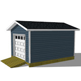 10x16 shed plan right