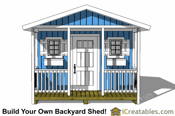 12x16 shed with porch elevations
