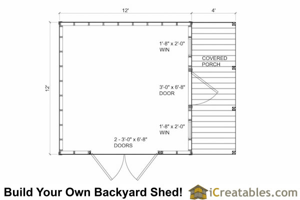 12x16 shed with porch icreatables for 12 x 12 shed floor plans