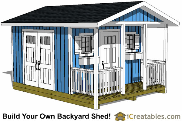 storage building plan with porch