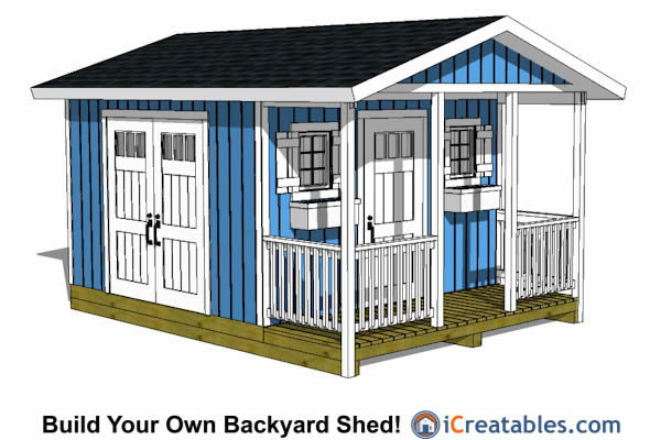 12x16 Shed With Porch