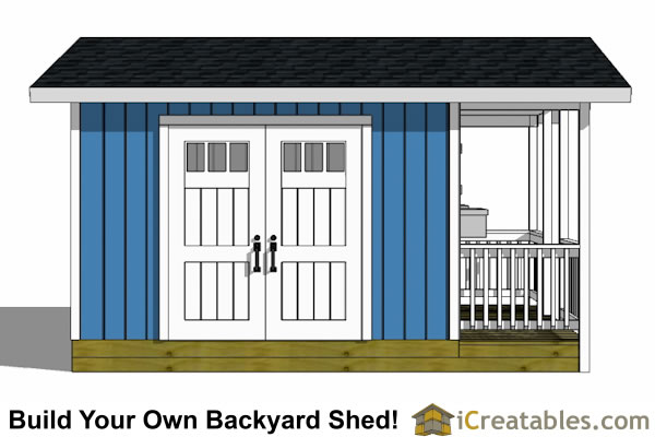 12x16 garden shed plan with porch