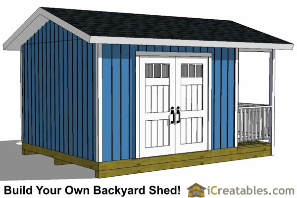 12x16 shed design with porch