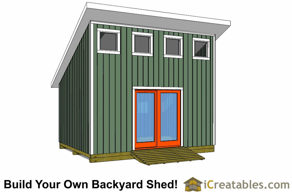 how to build a 4x8 wood shed