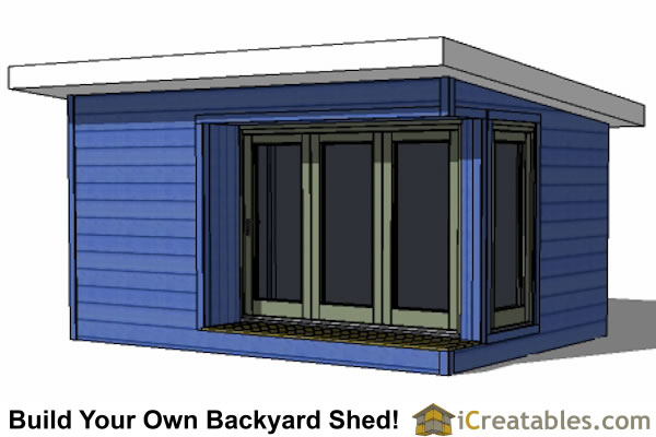 Modern Shed Plans Modern DIY Office Studio Shed Designs