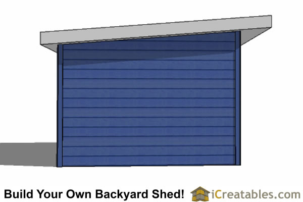 12x16 modern shed left view