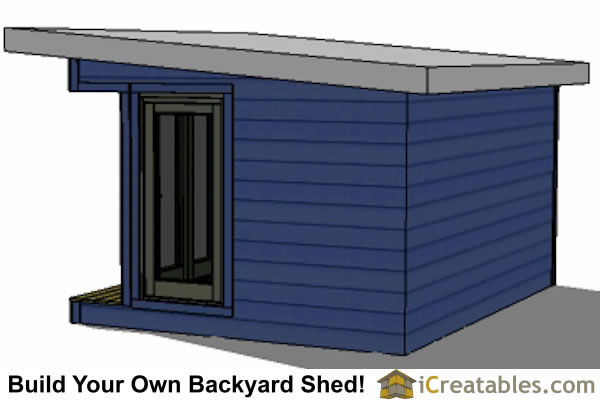 The 12x16 modern shed plans include: